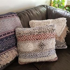 Boho Woven Wool blend Pillow Cover